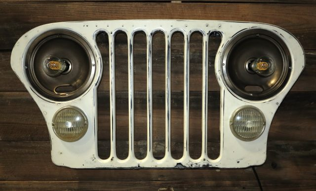 Jeep CJ Grill Wall Light