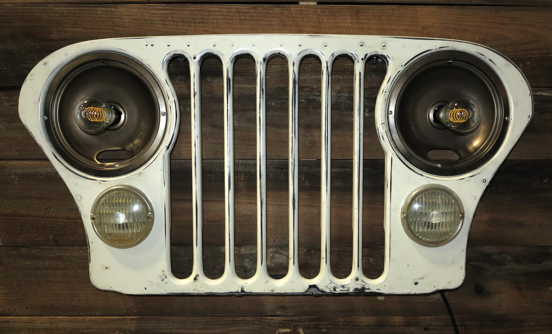 Jeep CJ Grill Wall Light