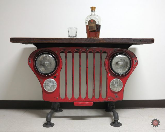 Jeep CJ Grill Side/Parlor Table