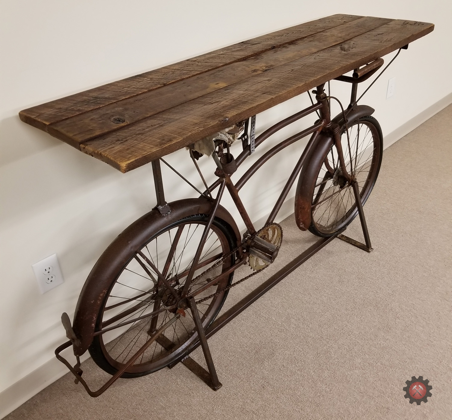 Vintage 1930s Bike Accent Table