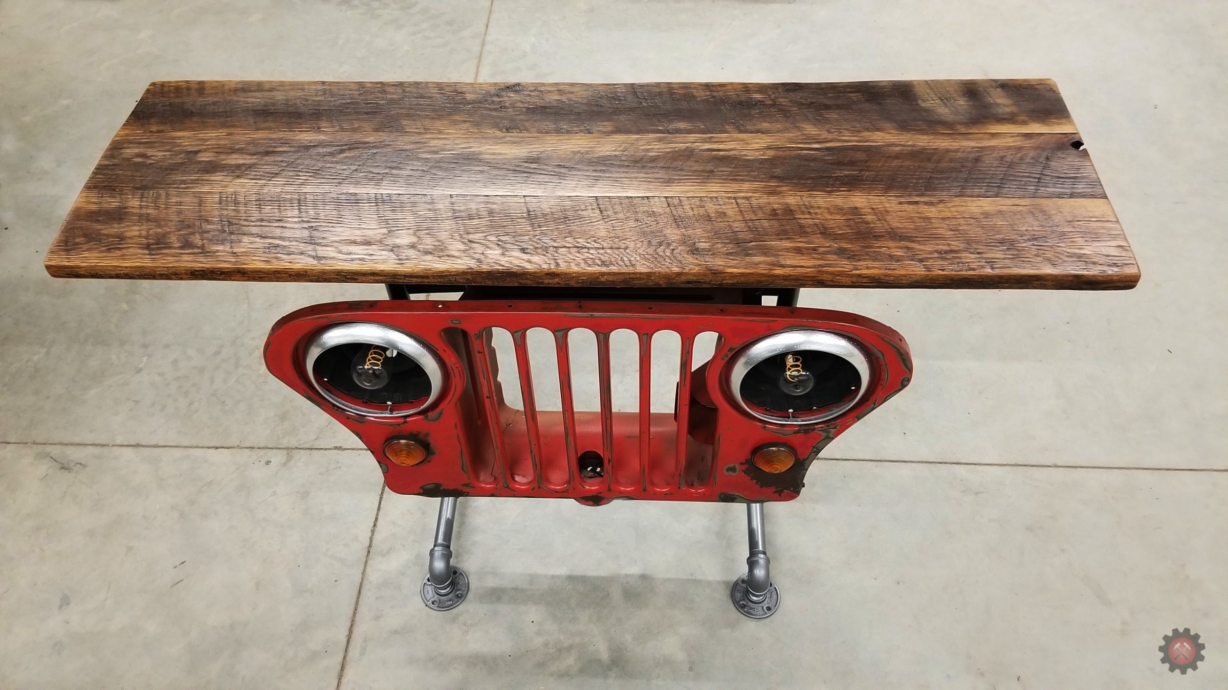 1960s Jeep Grill Parlor Table